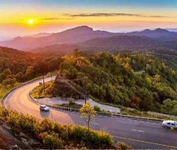 Road to Doi Inthanon Thailand